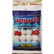 Ganpati Napthelene Ball, 10 Pieces, 100 Gms, White, Pack Of 2