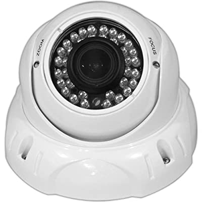 Dome Security Camera 700TVL Indoor and Outdoor Vandal Proof IR (Infrared) Color CCTV Surveillance Cam Sony Super HAD II CCD Enhanced Effio-E Chip Set 3.6mm Varifocal Lens - 100 feet of IR at night