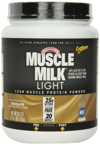 CytoSport Muscle Milk Cytosport Genuine Muscle Milk Light Lean Muscle Protein Powder, Chocolate, 1.65-Pound Jar