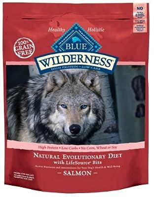 Blue Buffalo Wilderness Grain Free Dry Dog Food, Salmon Recipe, 24-Pound Bag from Blue Buffalo