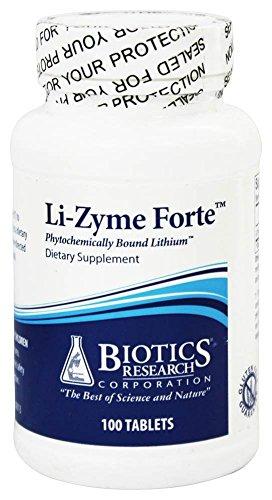 Biotics Research - Li-Zyme Forte - 100 Tablets