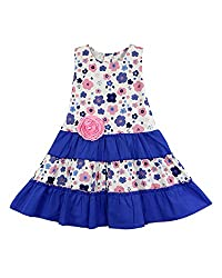SSMITN Girls' Dress(SK2218_6-12M, Pink, 6-12M)