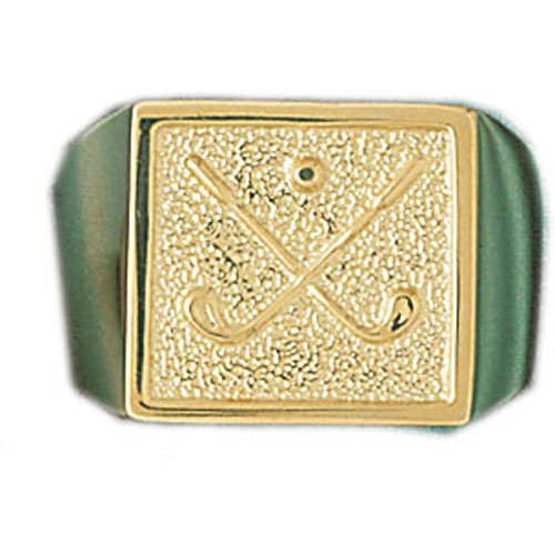 14kt Yellow Gold Golf Men's Ring