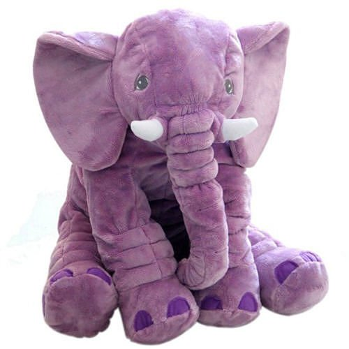 Baby Kids Long Nose Elephant Doll Soft Plush Stuffed Toy Waist Throw Pillow Cute