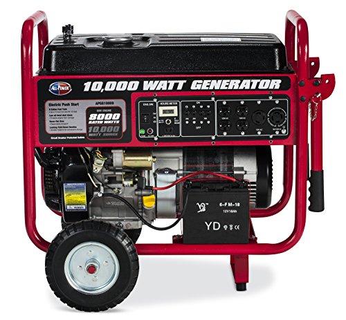 Generator Wattage Meter : Apgg gas generator watts electric start