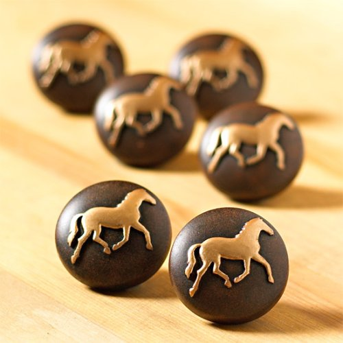 HORSE pony WESTERN knobs DRAWER PULLS cabinet NEW