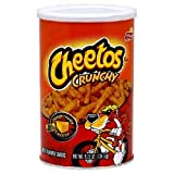 Frito-Lay Cheetos Crunchy, 4.25-Ounce Canisters (Pack of 12) ~ Frito-Lay