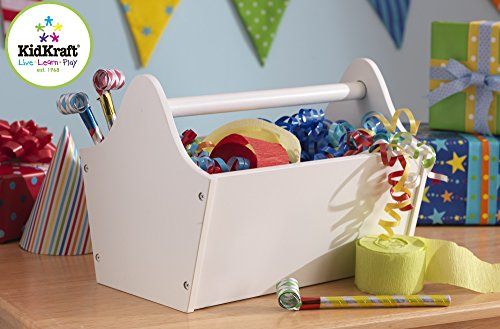 Cute Easy Carrying Toy Box Caddy Chest In White Toy Storage Bin Containers And Organizer For Kids Pet Toys - Children Home Box Units Solutions - Free Shipping front-1022310