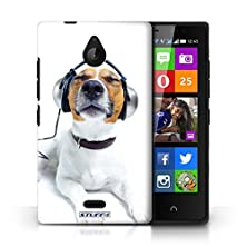 buy Kobalt® Protective Hard Back Phone Case / Cover For Nokia X2 Dual Sim | Chillin Headphone Dog Design | Funny Animals Collection