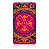 Head Case Fuchsia Indian Monograms Hard Back Case Cover For Sony Xperia go ST27i