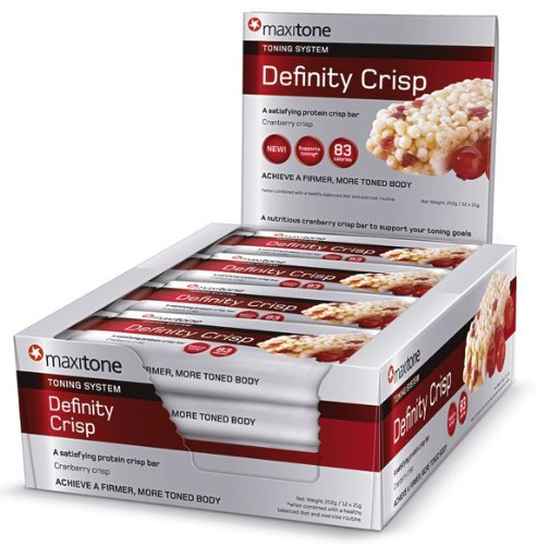 Maxitone Toning System Definity Crisp Bars Cranberry 21 g (Pack of 12)