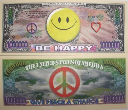 Set of 10 Bills-Smiley Face Million Dollar Bill - 1