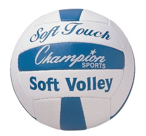Champion Sports Soft Touch Rubber Volleyball - 1