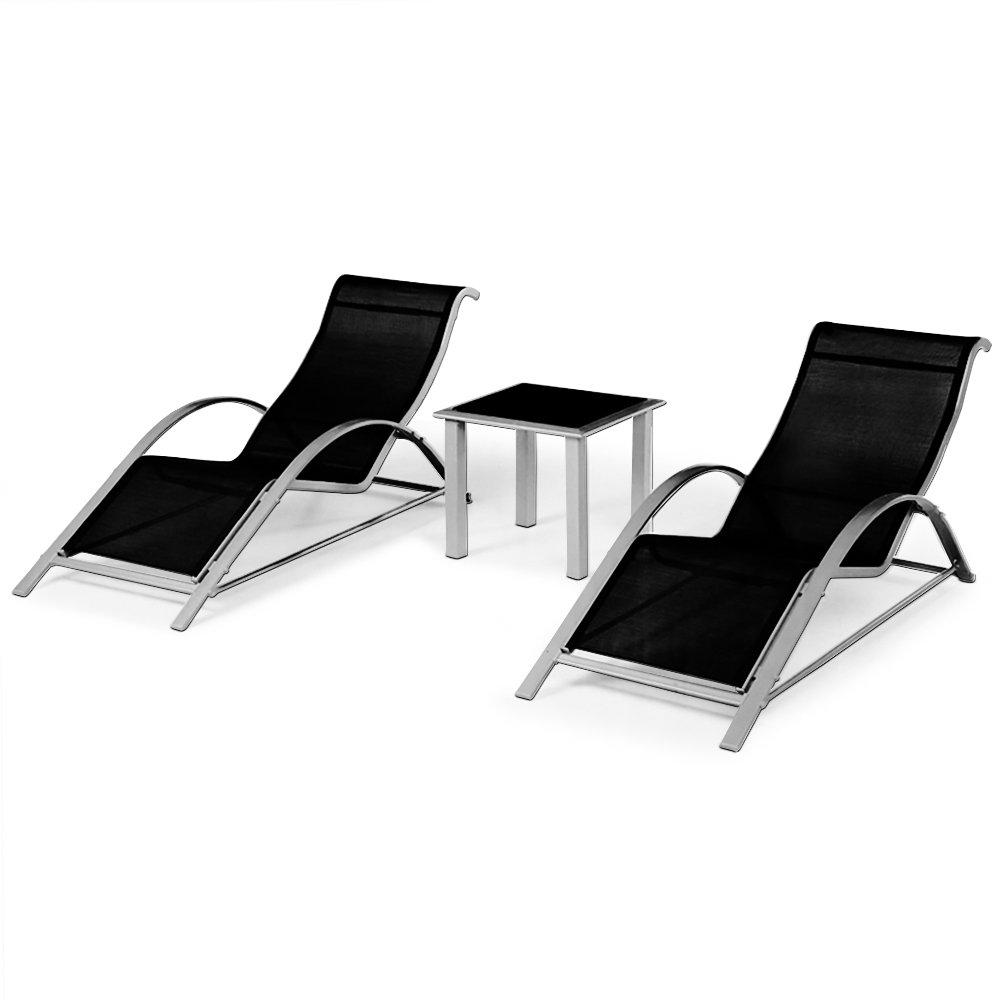 alu sun lounge sonnenliegen set liegen und tisch sitzgruppe sitzlounge g nstig online kaufen. Black Bedroom Furniture Sets. Home Design Ideas
