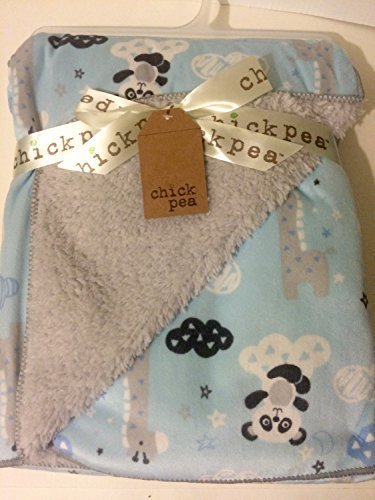 chick-pea-baby-turquoise-clouds-soft-mink-printed-blanket-with-sherpa-backing-by-chick-pea
