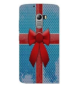 PrintDhaba Ribbon D-4855 Back Case Cover for LENOVO K4 NOTE A7010 (Multi-Coloured)