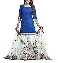 Foram Fashion Women's Cotton Unstitched Dress Material (FF12_Multi-Coloured_Freesize)