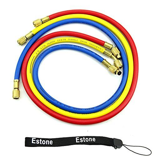 """Estone® New 36"""" A/C Charging Hose Set For Hvac Air Condition Refrigerant R12 R22 R502 front-361729"""