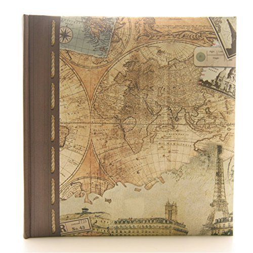 Kenro holiday theme memo photo album - old world map design - holds 200 photographs / 7x5 inch by Kenro