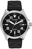 Citizen men's quartz Watch with analogue Display and fabric Strap