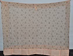 Fashion Centre Polyster Printed Mosquito net 7*7ft, Peach