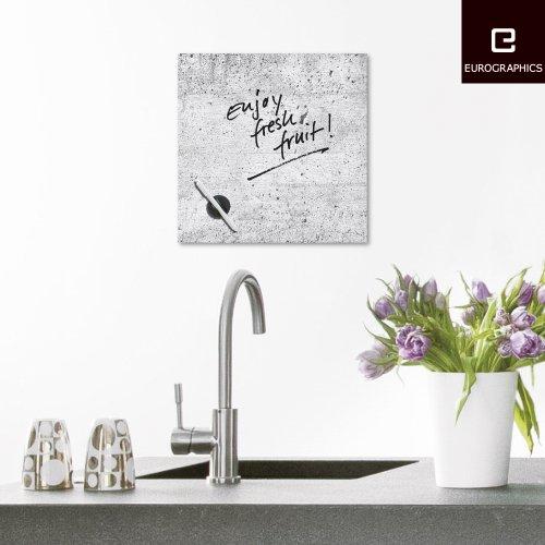 Eurographics lavagna magnetica scrivibile in vetro grigio - Lavagna magnetica per cucina ...