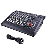 8-Channel Powered Mixer 2000W Audio Digital Console