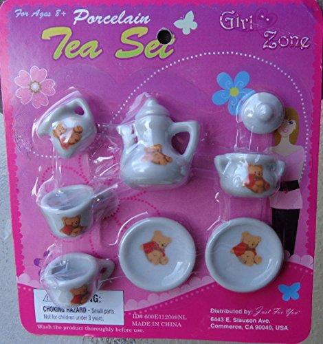Classic Winnie Z Pooh Porcelain China Tea Set 9 Pieces