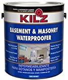 KILZ Interior/Exterior Basement and Masonry Waterproofing Paint, White, 1-gallon