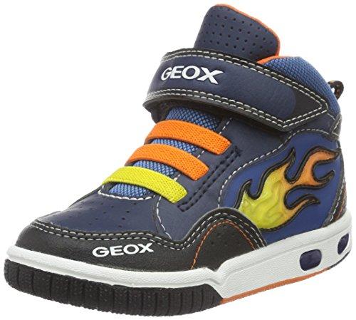 Geox Jr Gregg A, Scarpe da Ginnastica Alte Bambino, Blau (Navy/ORANGEC0659), 32 EU