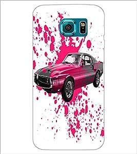 PrintDhaba Car D-2824 Back Case Cover for SAMSUNG GALAXY S6 EDGE (Multi-Coloured)