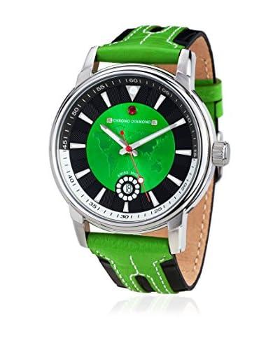 Chrono Diamond Reloj con movimiento cuarzo suizo 10800H Negro / Verde 43 mm