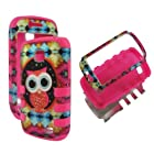 Hybrid Pink Colorful Owl Box Samsung Galaxy Proclaim SCH-S720C NET 10 Straight Talk / Illusion i110 Verizon Case Cover Hard Phone Case Snap-on Cover Rubberized Touch Faceplates