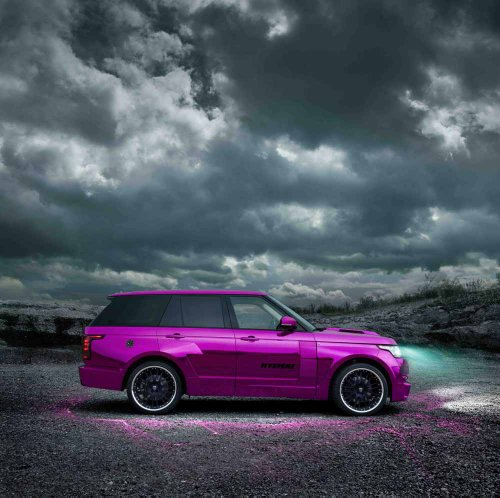 """Land Rover Range Rover Mystère By Hamann (2013) Car Art Poster Print On 10 Mil Archival Satin Paper Purple Side View 24""""X24"""""""