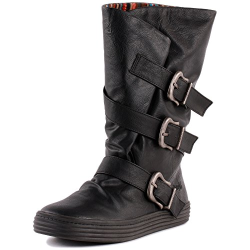 Blowfish Olin Womens Synthetic Boots Black - 36 EU