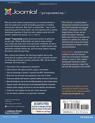 Joomla! Programming (Joomla Press)