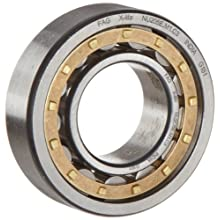 FAG Cylindrical Roller Bearing, Single Row, Non-Locating, Reinforced Roller Set, Separable, Brass Cage, C3 Clearance, Metric