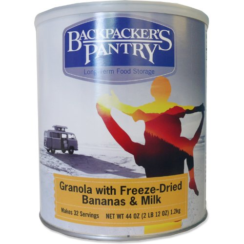 Backpacker'S Pantry Granola W/ Freeze-Dried Bananas & Milk - 32 Servings Per Can - #10 Can