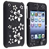 eForCity Black Hawaii HARD COVER CASE Compatible With iPhone® 3G 2nd 8G 16G