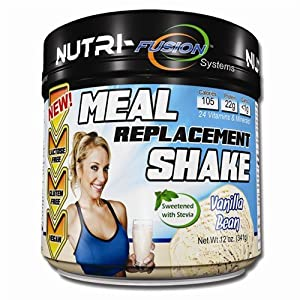 Nutri-Fusion Systems Meal Replacement Shake Powder Vanilla Bean 12 oz.