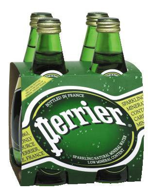 Perrier Water, 8.45-Ounce (250Ml) Glass Bottles (Pack Of 12) front-141348