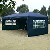 Tangkula 10X20 EZ POP UP Tent Gazebo Wedding Party Folding Canopy Carry Bag Cross-Bar