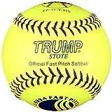 Trump® FP-11-Y-375 11 Inch USSSA Blue Stitch Leather Fastpitch Softball (375 Compression) (Sold in Dozens)
