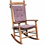 Red, White and Blue Gingham Rocking Chair Cushion Set