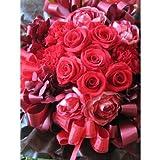 還暦祝い 花 プリザーブドフラワー プレゼント 赤バラのプリザーブドフラワー入りフラワーギフト