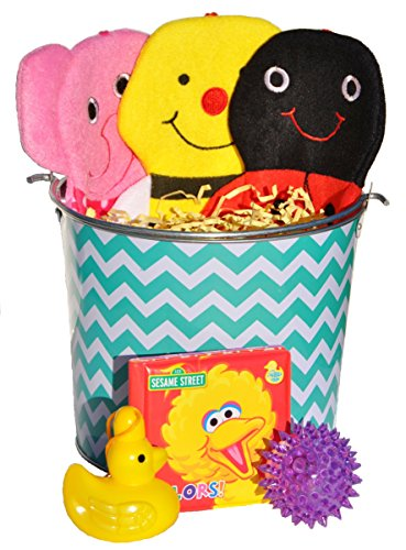 Teal Turquoise Birthday Baby Shower Gift Basket Easter Basket for Babies Toddlers Kids