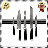 Magnetic Knife Holder,kitchen Knife Holder Strip with Durable Frame for Storing Kitchen Knives,, 100% Safe 13 Inches, Zentone Knife Bar