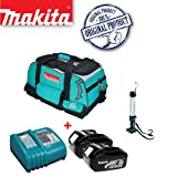 MAKITA BML184 14.4/18v Lithium-Ion Fluorescent Light Plus 18V BL1830 Battery & DC18RA Charger with Tool Bag (831278-2)