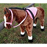 Party Ponies Saddle Set for Melissa and Doug Giant Standing Plush Horse and Other Plush Stuffed Animals - Pink- Horse not Included