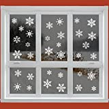 42 Original Snowflake Window Clings - Quick and Simple Christmas Decorations - Glueless PVC Stickersby Articlings�